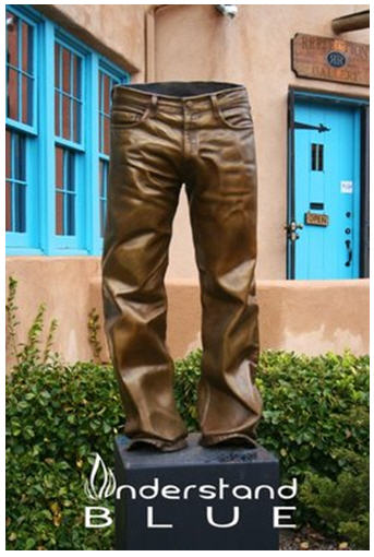 Statue of pants from Understand Blue website